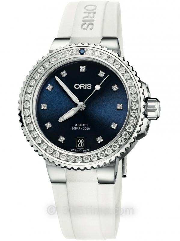 ORIS豪利时潜水系列AQUIS日历钻石腕表01 733 7731 4995-07 4 18 63FC