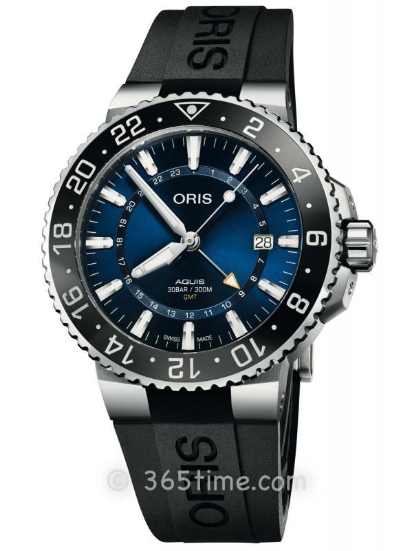 ORIS豪利时潜水系列GMT腕表01 798 7754 4135-07 4 24 64EB