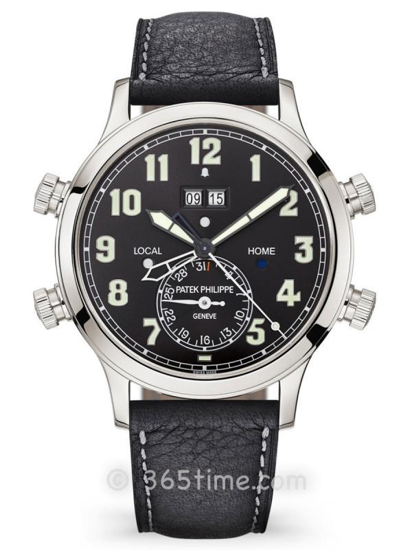 百达翡丽超级复杂功能时计系列自动上弦GMT24小时闹钟腕表5520P-001