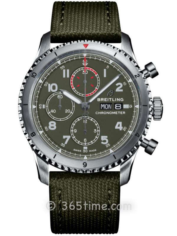 百年灵飞行员8计时腕表43柯蒂斯战鹰特别版A133161A1L1X1