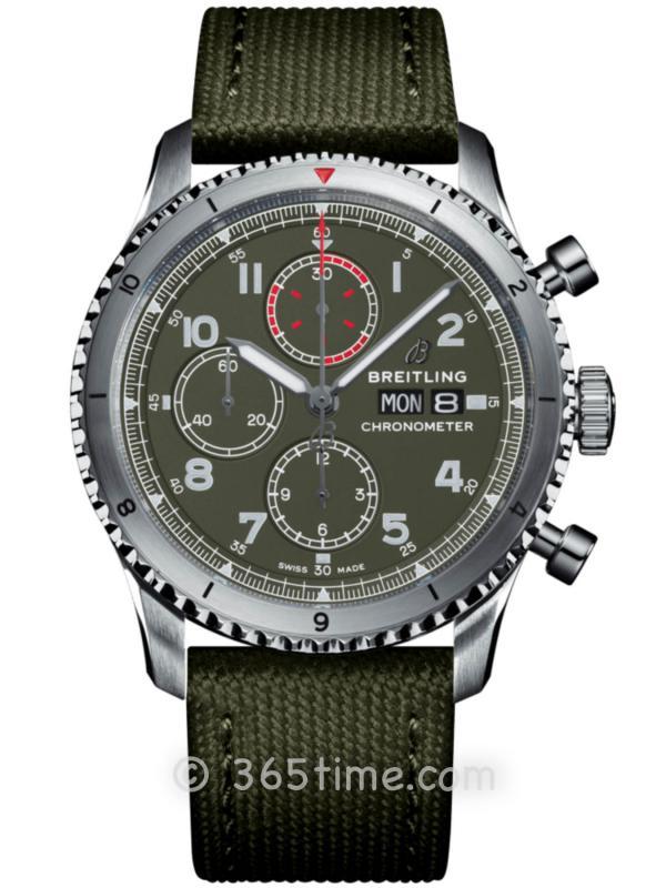 百年灵飞行员8计时腕表43柯蒂斯战鹰特别版A133161A1L1X2