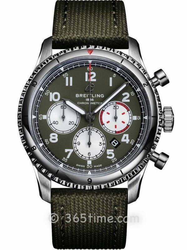 百年灵飞行员8 B01计时腕表43柯蒂斯战鹰特别版AB01192A1L1X2
