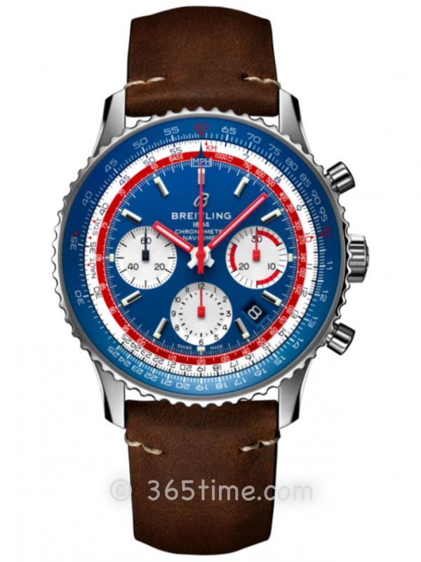 百年灵航空计时1 B01计时腕表43泛美航空特别版AB01212B1C1X1