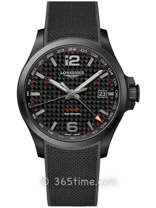 浪琴康卡斯系列V.H.P.GMT光感设置男士石英腕表L3.728.2.66.9
