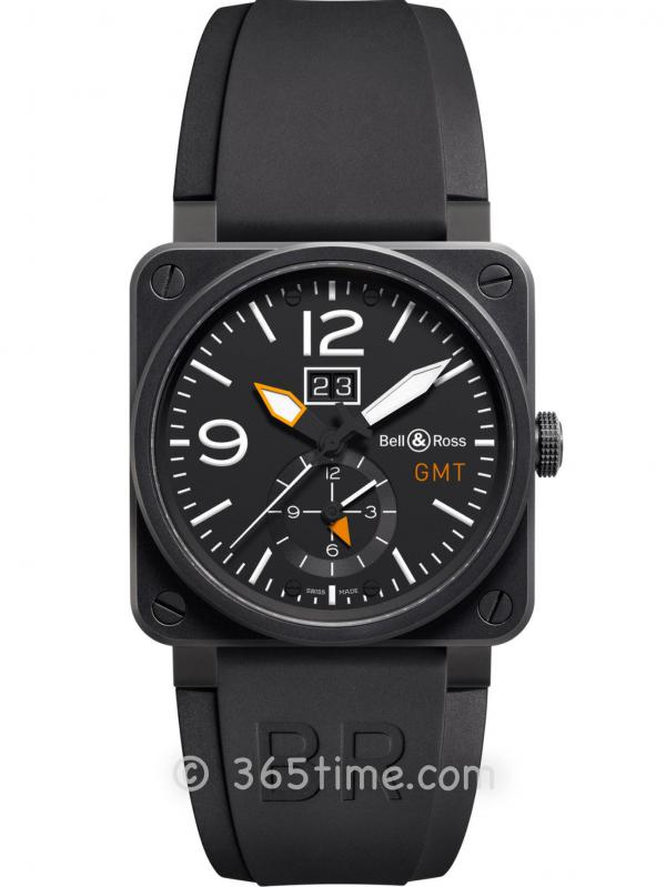 BELL & Ross柏莱士Instruments系列GMT两地时间腕表BR0351-GMT-CA