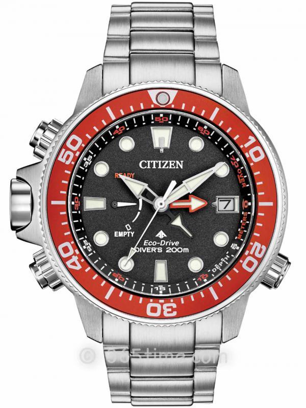 Citizen西铁城Promaster Aqualand BN2039-59E光动能专业潜水表