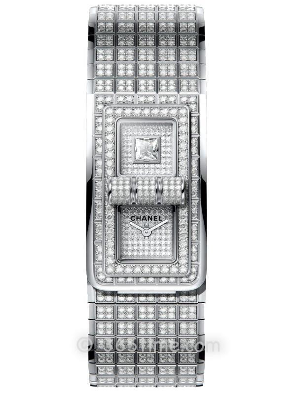 香奈儿CODE COCO白金镶钻石英腕表H5152