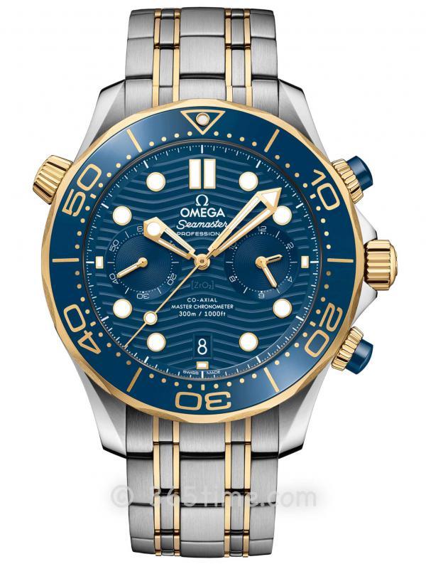欧米茄海马系列300米专业潜水表210.20.44.51.03.001同轴至臻天文台计时