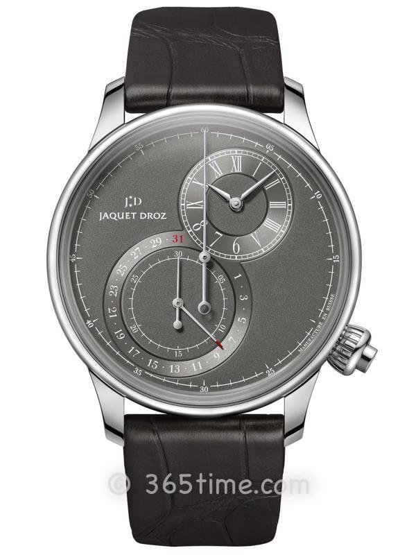 雅克德罗灰色偏心大秒针计时码表J007830242