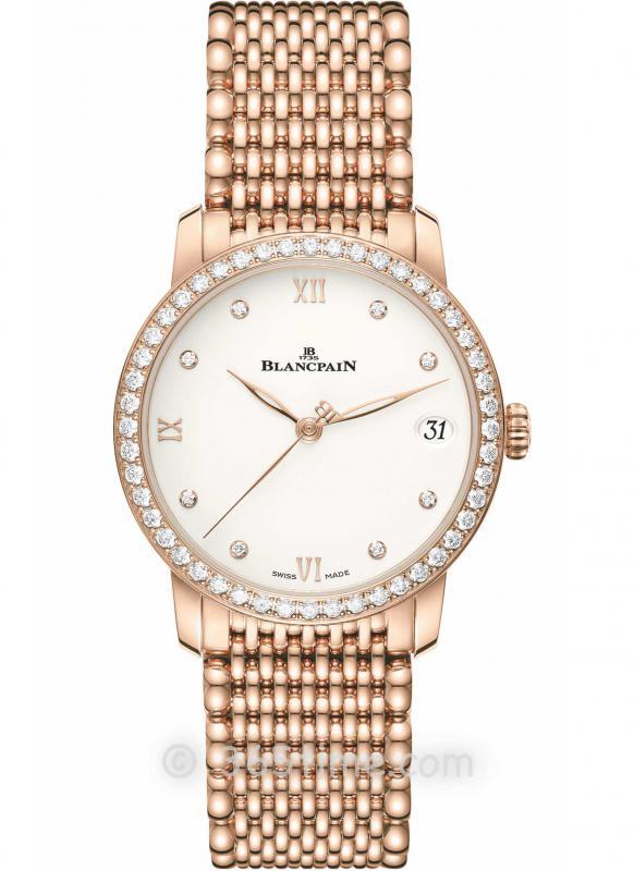 Blancpain宝珀Villeret经典女装系列日期显示腕表6127-2987-MMB
