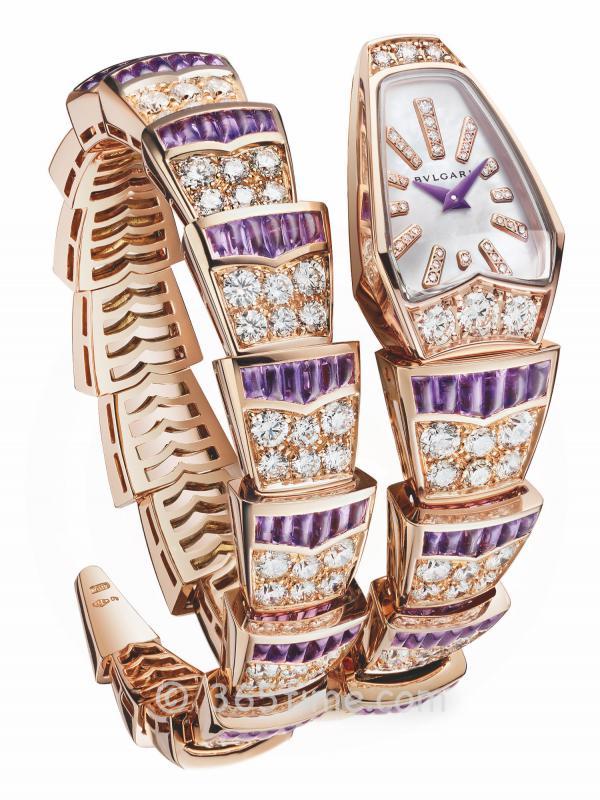 宝格丽SERPENTI紫水晶精选系列SCAGLIE腕表103124