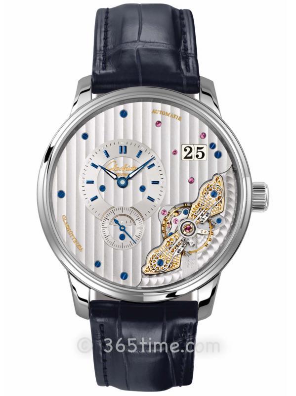 格拉苏蒂原创偏心系列腕表1-91-02-02-02-01(针扣)