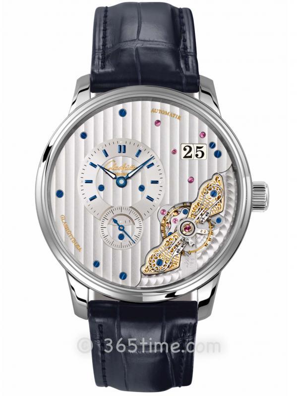 格拉苏蒂原创偏心系列腕表1-91-02-02-02-50(折叠扣)