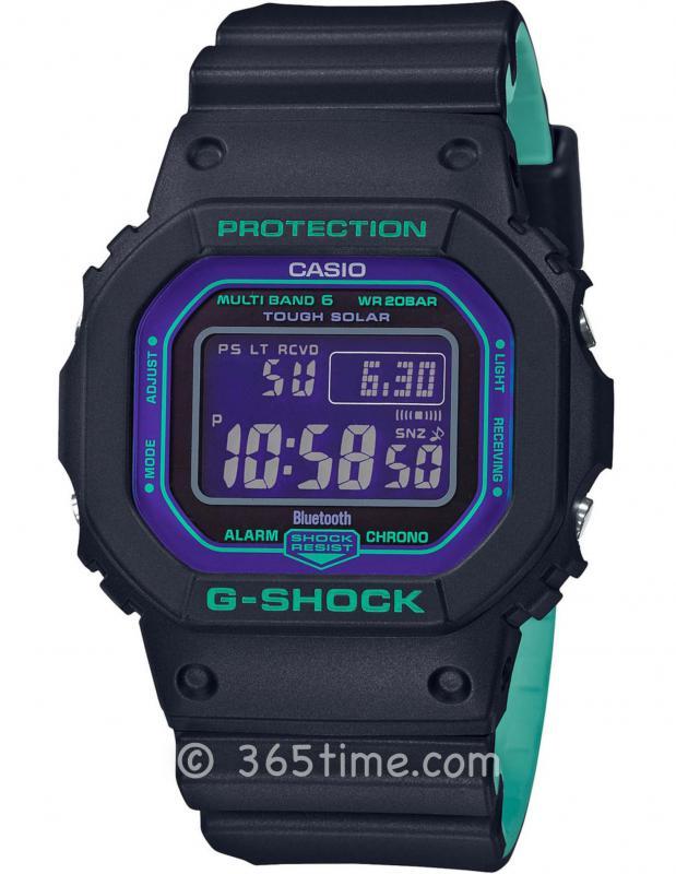 CASIO卡西欧G-SHOCK经典系列太阳能6局电波方形腕表GW-B5600BL-1