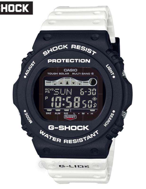 CASIO卡西欧G-SHOCK冲浪系列太阳能6局电波腕表GWX-5700SSN-1