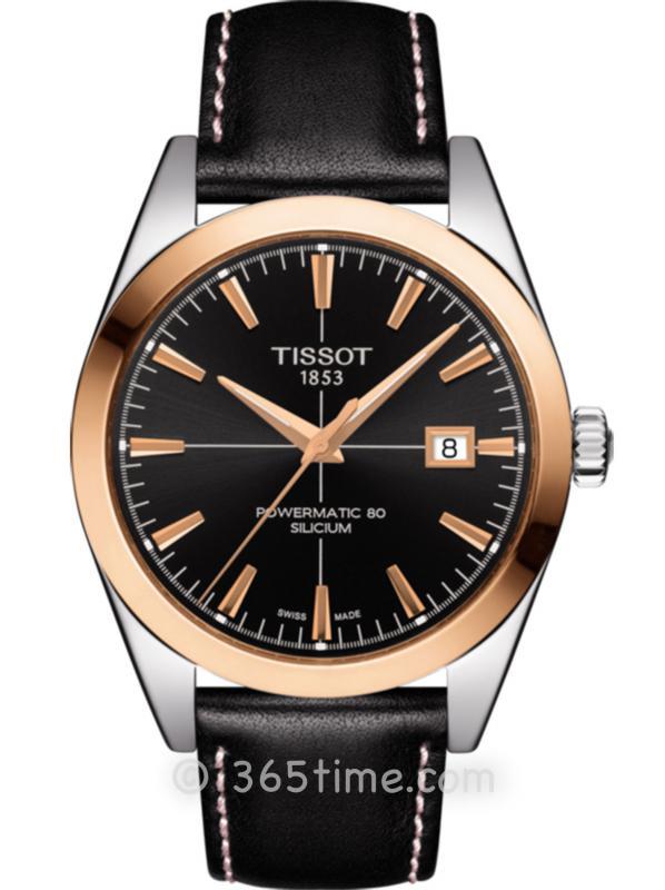 Tissot天梭T-Gold系列18K金正装腕表T927.407.46.051.00
