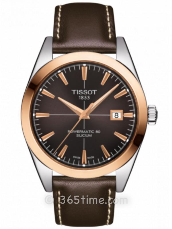 Tissot天梭T-Gold系列18K金正装腕表T927.407.46.291.00