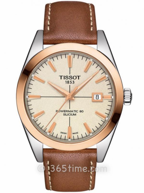Tissot天梭T-Gold系列18K金正装腕表T927.407.46.261.00