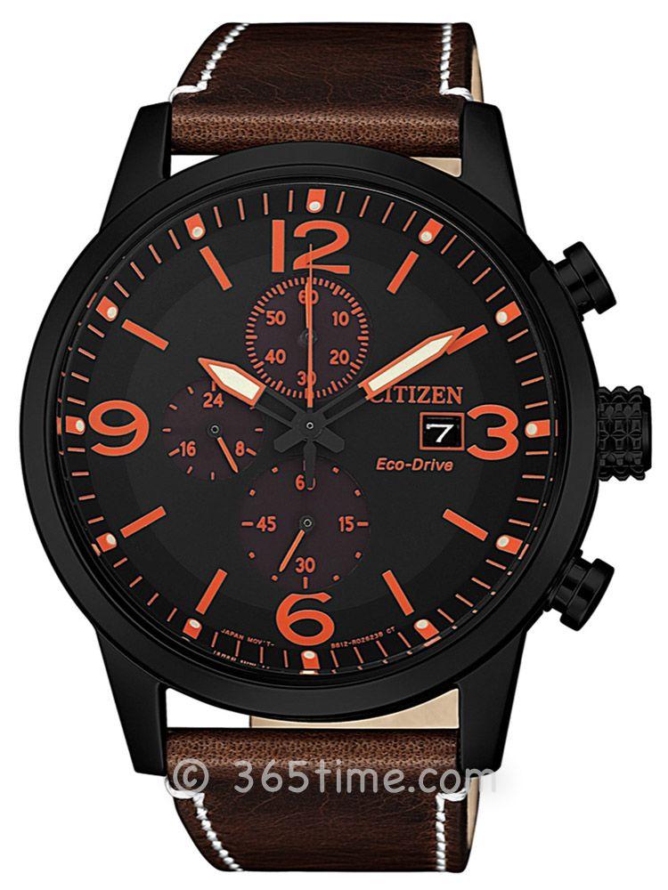 西铁城光动能系列男士计时腕表CA0617-11E