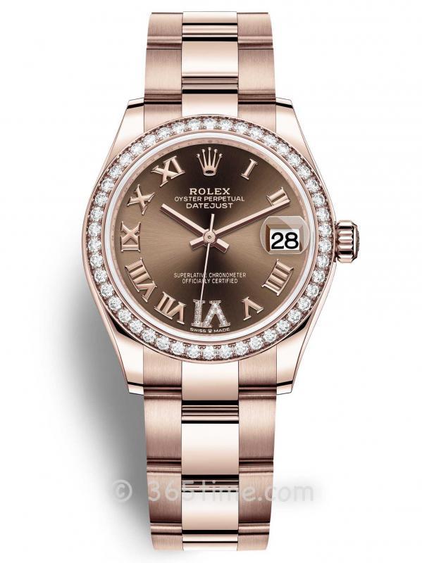 Rolex劳力士蚝式恒动日志型31女士手表278285rbr-0015