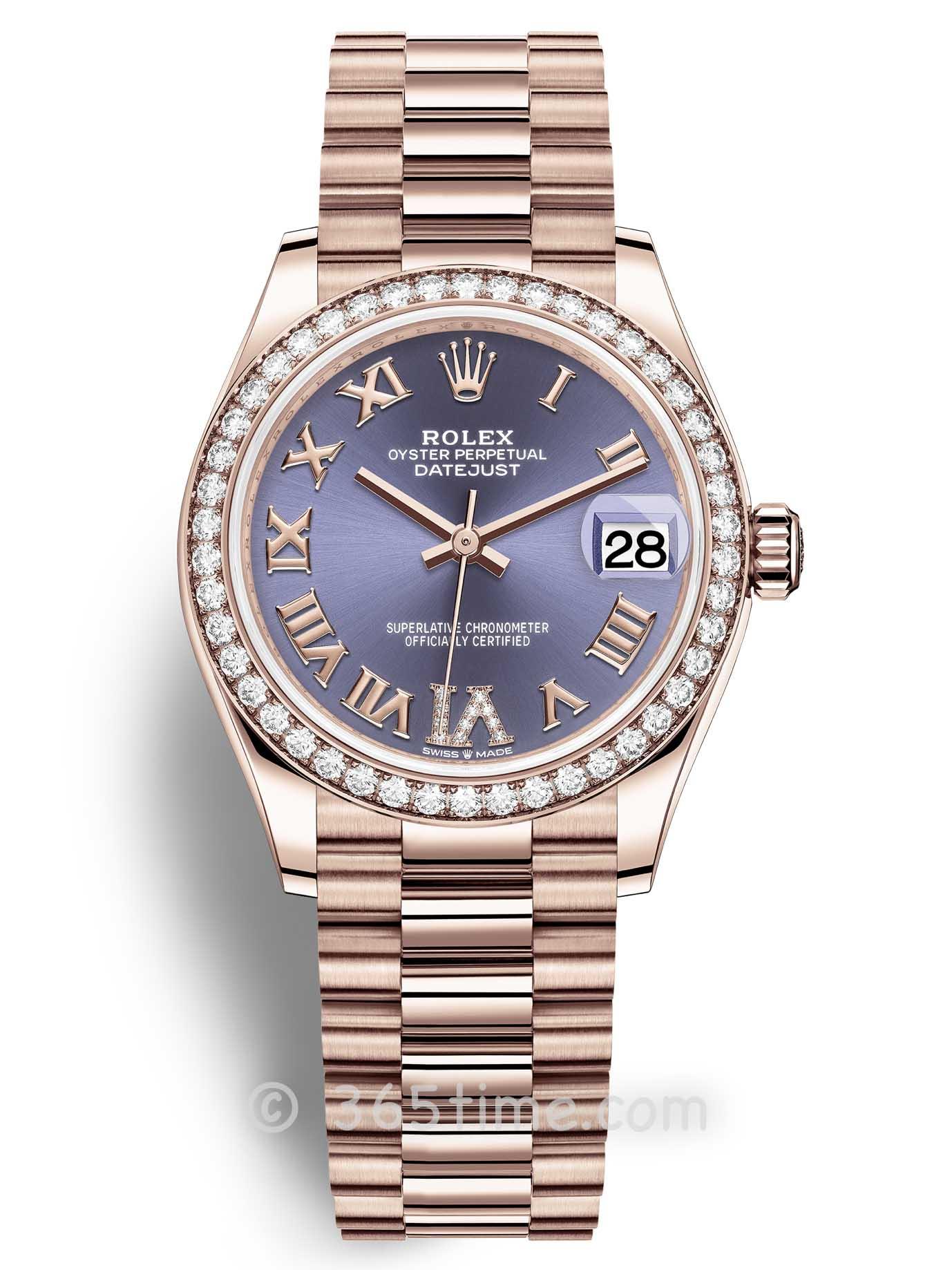 Rolex劳力士蚝式恒动日志型31女士手表278285rbr-0023