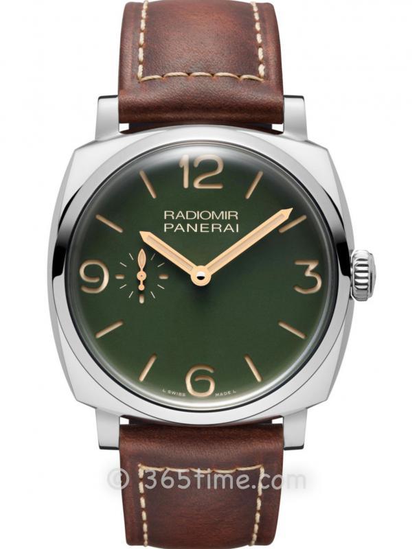 Panerai沛纳海Radiomir系列军绿色表盘腕表PAM00995
