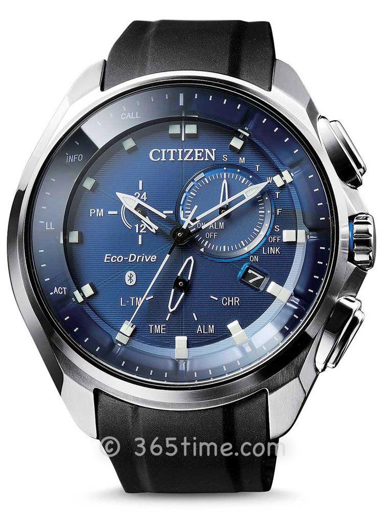 西铁城光动能系列GMT万年历计时腕表BZ1020-14L