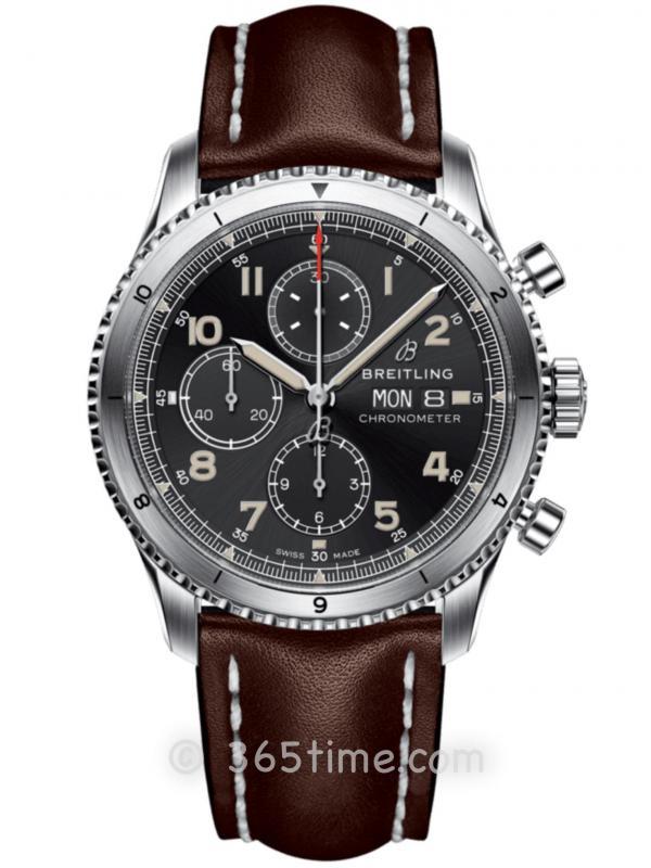 百年灵飞行员8计时腕表A13316101B1X3