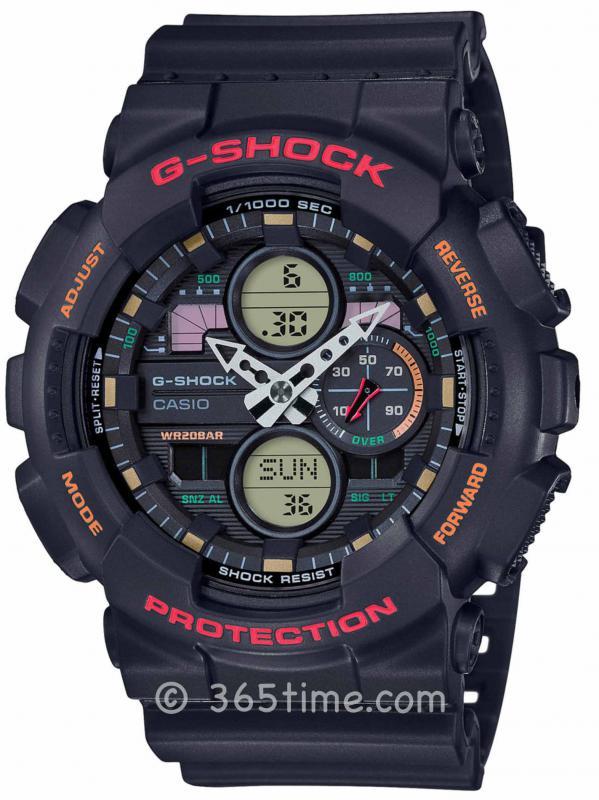 卡西欧(Casio)G-SHOCK GA140ANA-DIGI女士数字指针GA140-1A4