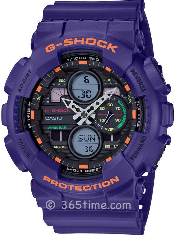 卡西欧(Casio)G-SHOCK GA140ANA-DIGI女士数字指针GA140-6A