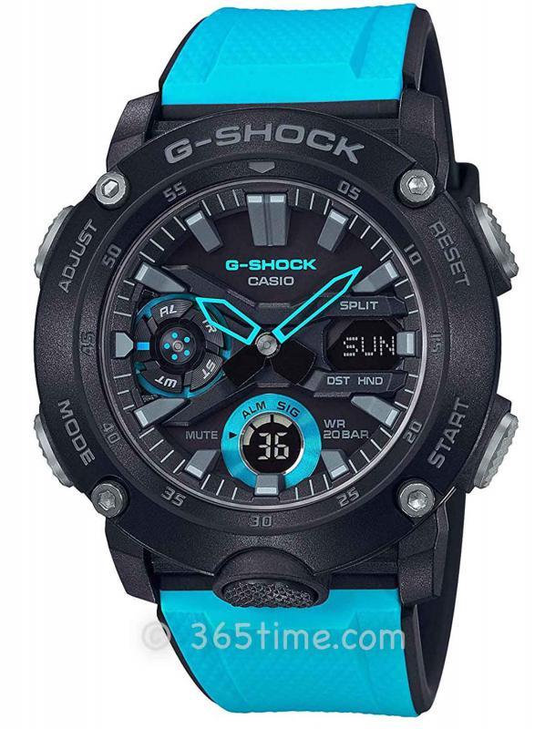 卡西欧(Casio)G-SHOCK碳纤维GA2000-1A2