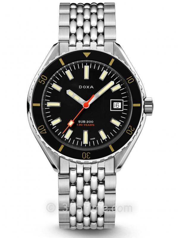 DOXA时度SUB 200 130TH周年限量版潜水表799.10.101.LE.10