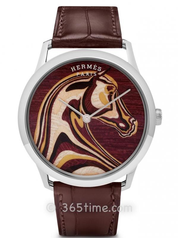 爱马仕(Hermès)Slim d`Hermès Pégase Paysage细木镶嵌