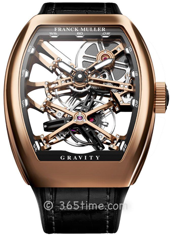 法穆兰(FRANCK MULLER)Grand Complications镂空陀飞轮V 45 T GRAVITY CS SQT Gold
