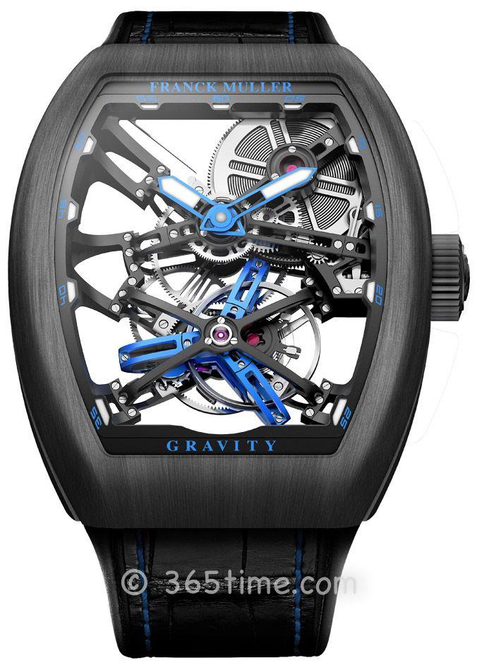 法穆兰(FRANCK MULLER)Grand Complications镂空陀飞轮V 45 T GRAVITY CS SQT Titan