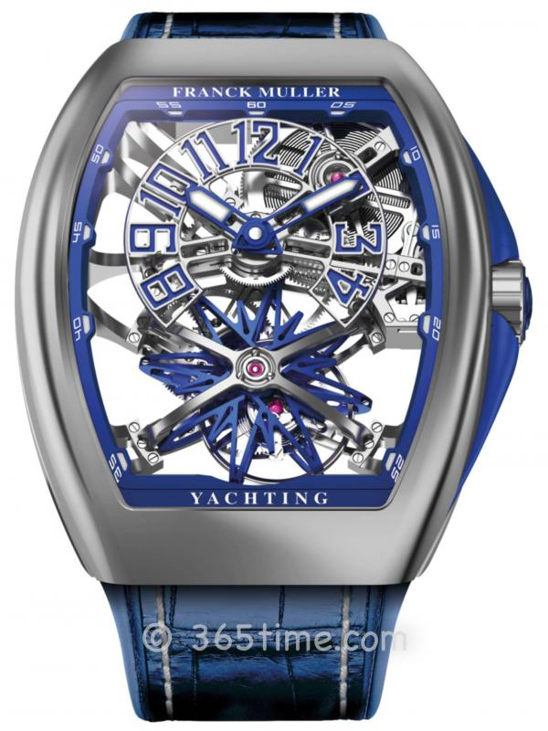 法穆兰(FRANCK MULLER)Grand Complications Gravity Vanguard Yachting镂空陀飞轮V 45 T GR CS SQT YACHT NBR ST