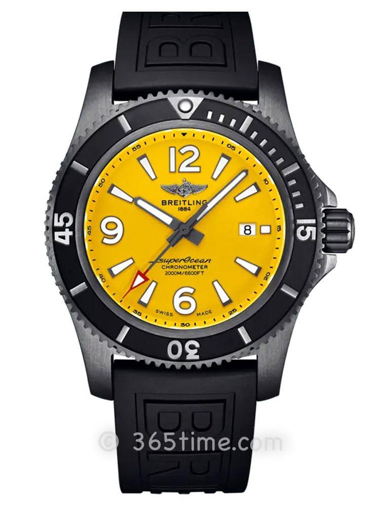 百年灵超级海洋自动机械腕表46黑钢特别版M17368D71I1S2