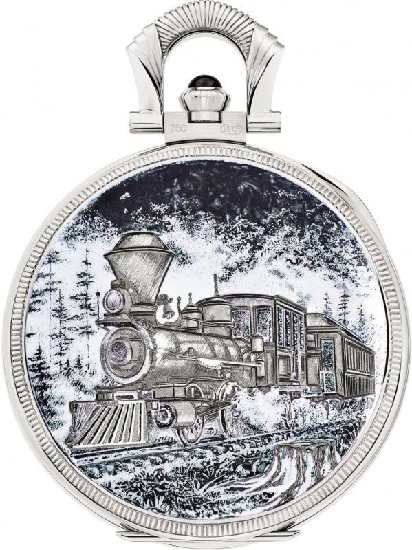 百达翡丽珍稀工艺手工雕刻和微缩珐琅彩绘工艺怀表992/142G-001