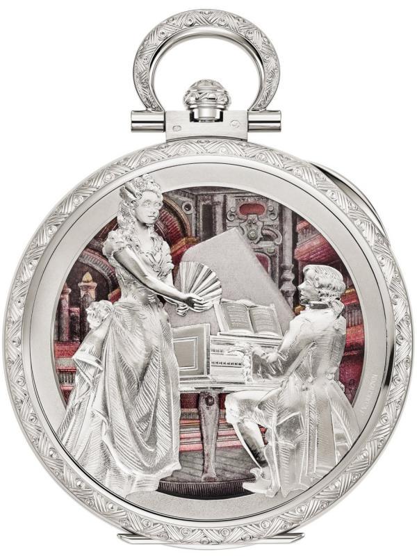 百达翡丽珍稀工艺手工雕刻和珐琅工艺怀表995/110G-001