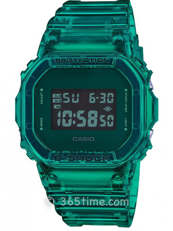 Casio卡西欧G-SHOCK SKELETON半透明配色数字DW5600SB-3