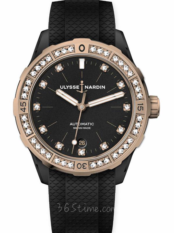 雅典潜水Diver X潜水女表8165-182B-3/BLACK