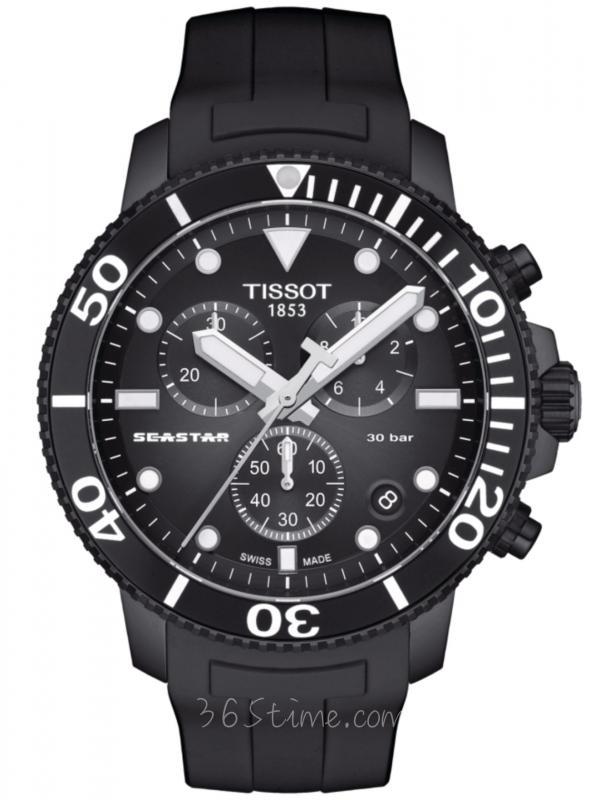 TISSOT天梭Seastar 1000石英计时表T120.417.37.051.02