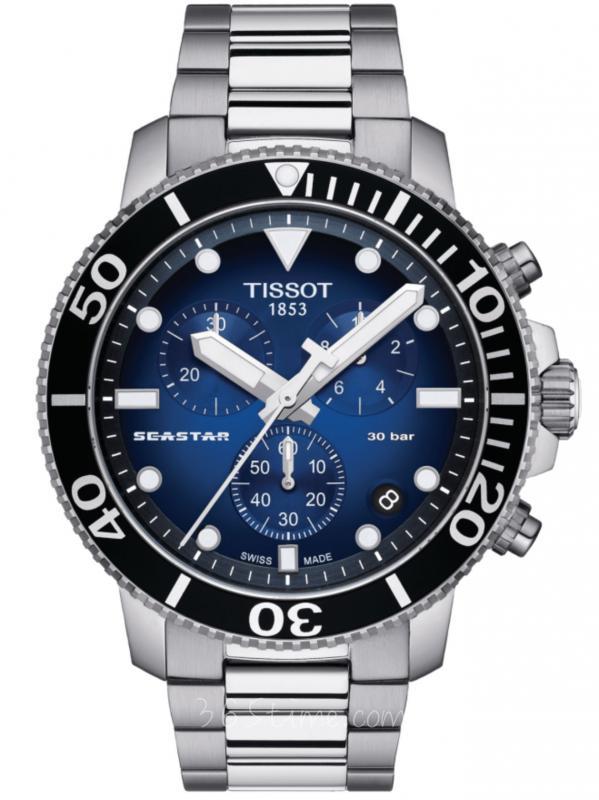 TISSOT天梭Seastar 1000石英计时表T120.417.11.041.01
