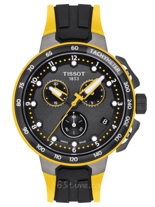 TISSOT天梭T-SPORT赛车计时手表T111.417.37.057.00