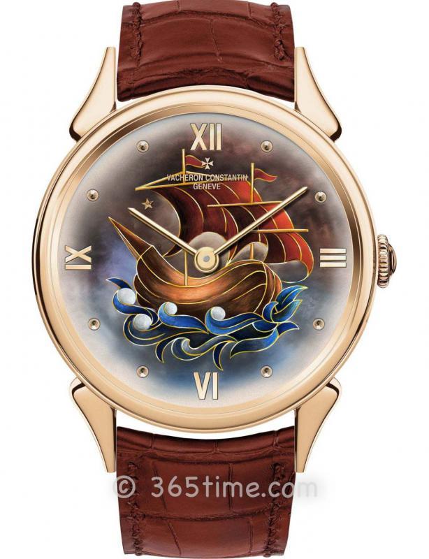 """江诗丹顿Les Cabinotiers阁楼工匠""""卡拉维尔帆船""""19501110C/000R-B612"""