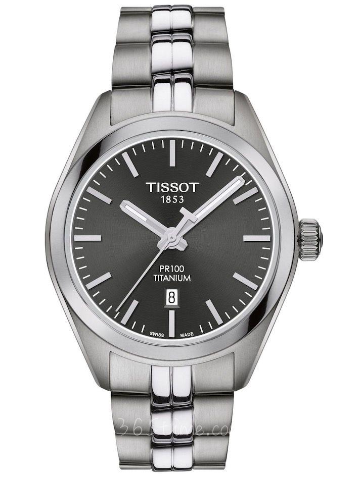 TISSOT天梭PR 100钛合金33毫米石英女表T101.210.44.061.00