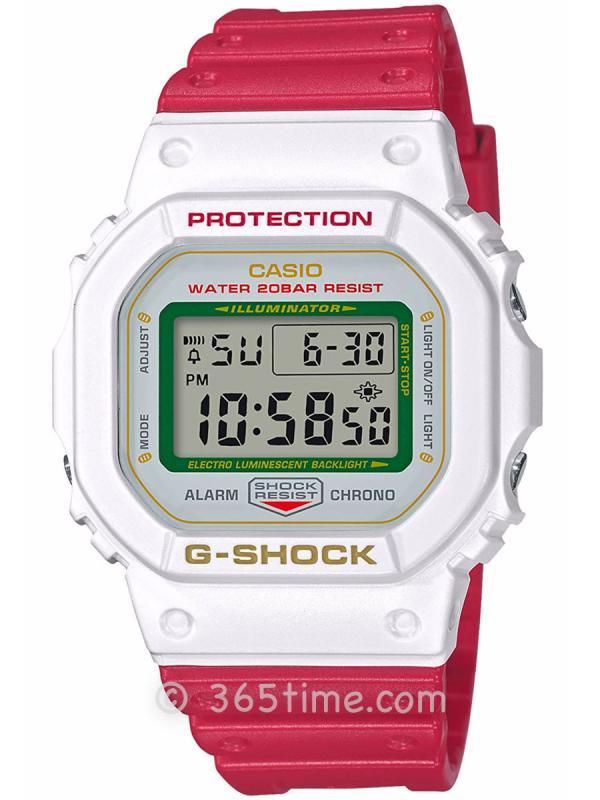 CASIO卡西欧G-SHOCK DW-5600招财猫主题腕表DW-5600TMN-7