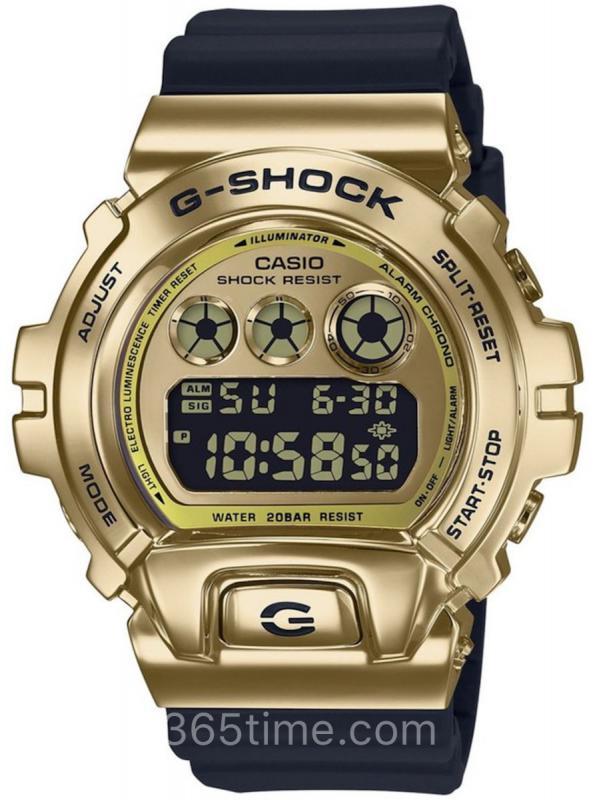 CASIO卡西欧G-SHOCK三重表盘GM-6900系列金属表圈腕表GM-6900G-9