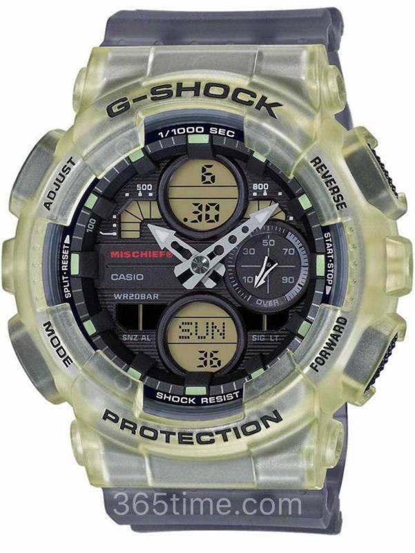 卡西欧G-SHOCK MISCHIEF联名款复古腕表GMA-S140MC-1A