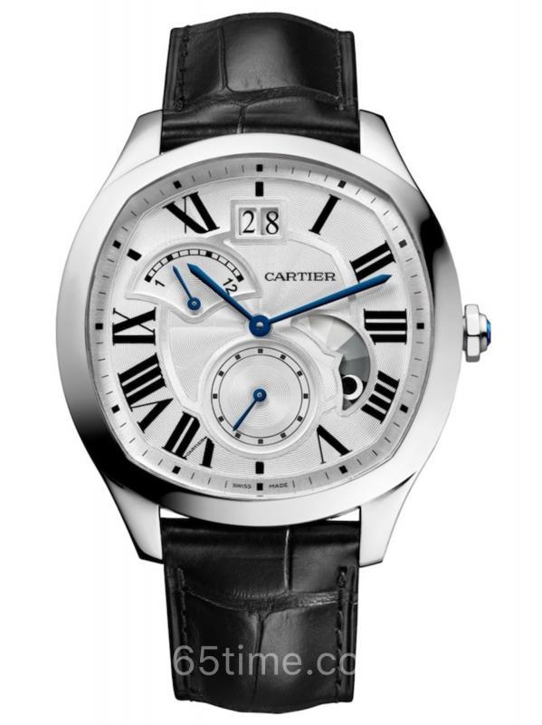 卡地亚Drive de Cartier大日历逆跳指示双时区昼夜显示WSNM0005